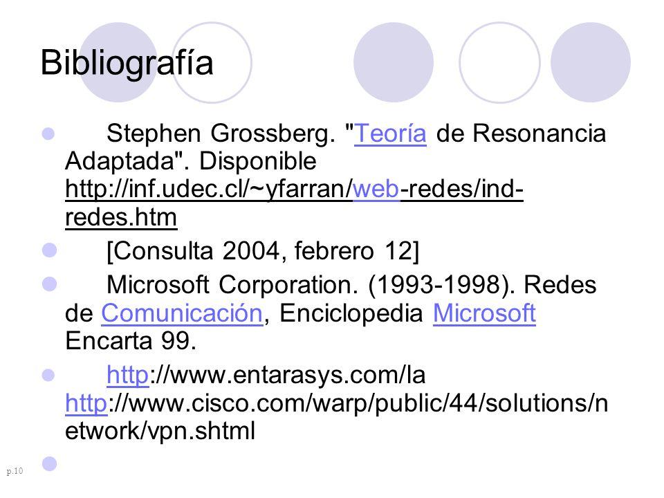 Bibliografía [Consulta 2004, febrero 12]
